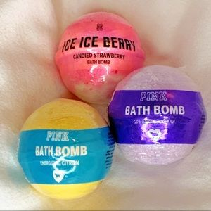 BUNDLE 3 LARGE PINK VICTORIA'S SECRET BATH BOMBS